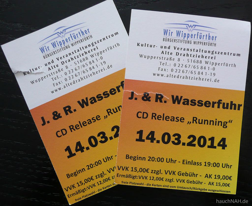 Tickets - Wasserfuhr Quartet